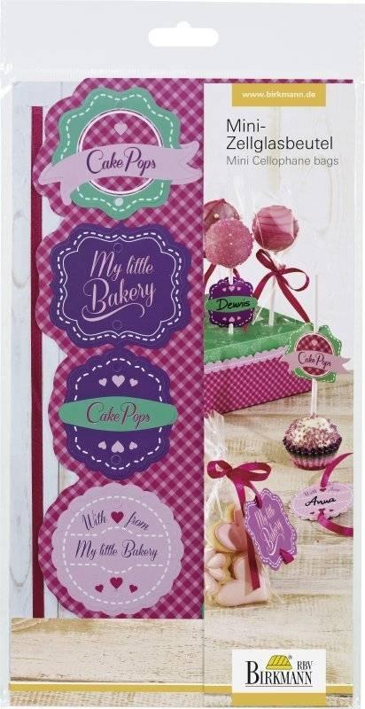 Dárková sada na CAKE POPS – sáčky, stuhy, štítky - Birkmann