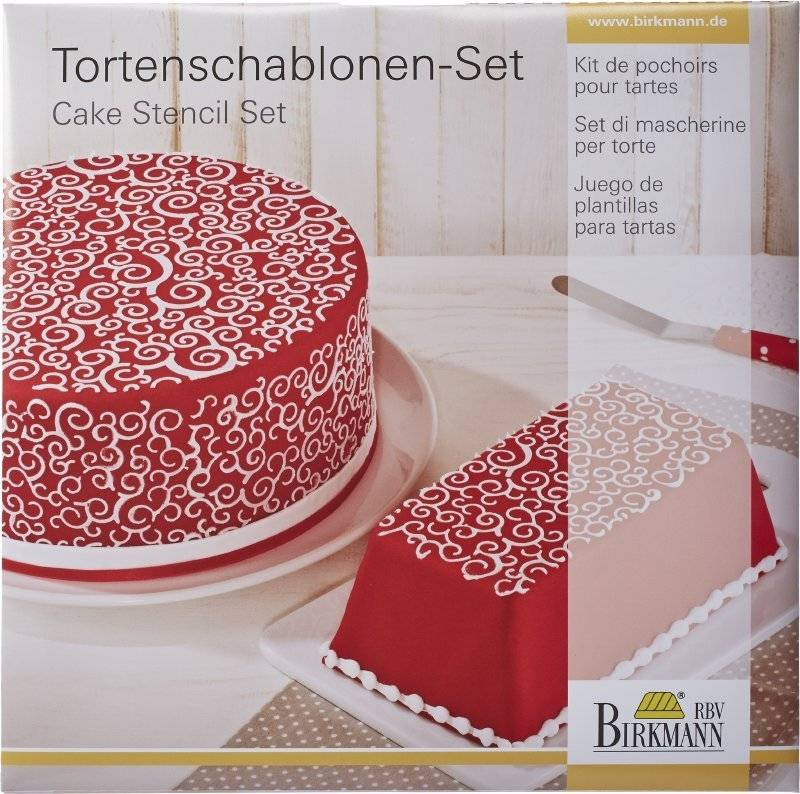 Stencil na dort – spirály CAKE COUTURE - Birkmann
