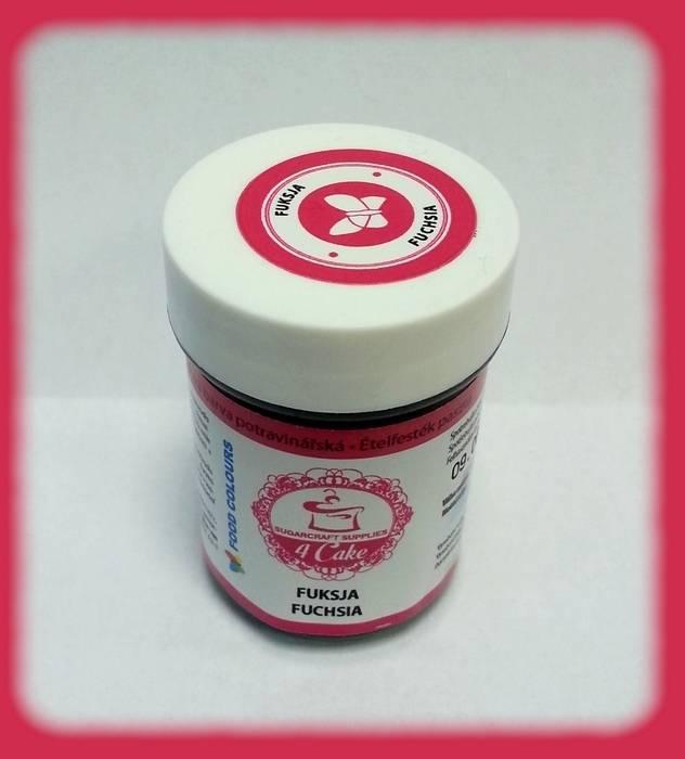 Gelová barva (Fuchsia) sytě růžová 35 g - Food Colours