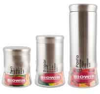 Dóza na potraviny 1l - stříbrná - BIOWIN