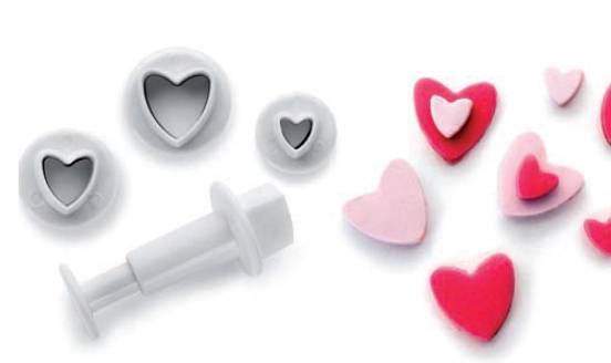 Zdobící sada srdce set – 3ks - Ibili