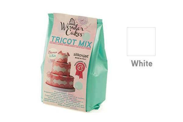 Směs na jedlou krajku TRICOT MIX – bílá 300g - Silikomart