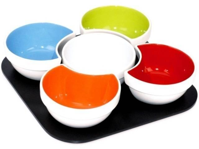 Porcelánové servírovací misky Mastrad set – 5ks - Mastrad