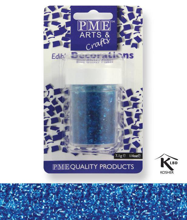 Sypání Glitter Flakes - modré - PME