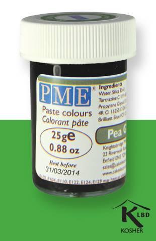PME gelová barva - hráškově zelená - PME