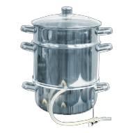 Nerezový hrnec na odšťavňování i vaření v páře 8 l - BIOWIN