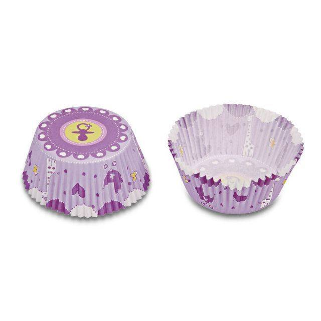 Papírové pečicí formičky - dětský potisk lila - Stadter