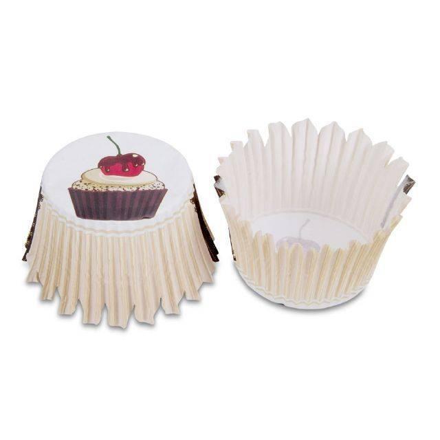 Papírová forma na pečení - mini, motiv kavárna - Stadter