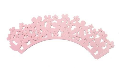 Ozdobný límec na košíčky - růžový - Ibili