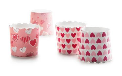 Papírové košíčky srdíčka 7 x 5,5cm - Ibili