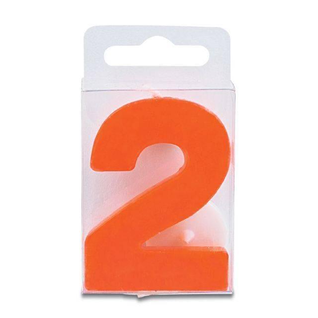 Svíčka ve tvaru číslice 2 - mini, červená - Stadter
