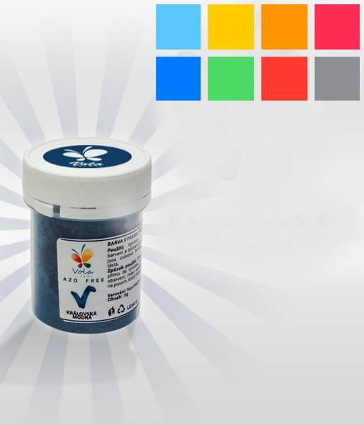 Prachová barva 5g - nebeská modř, perleťová - Vola colori