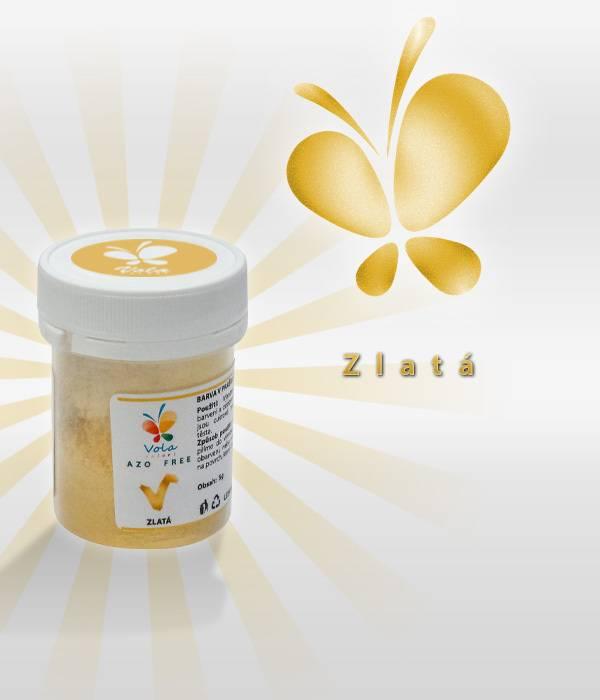 Prachová barva 5g - zlatá - Vola colori