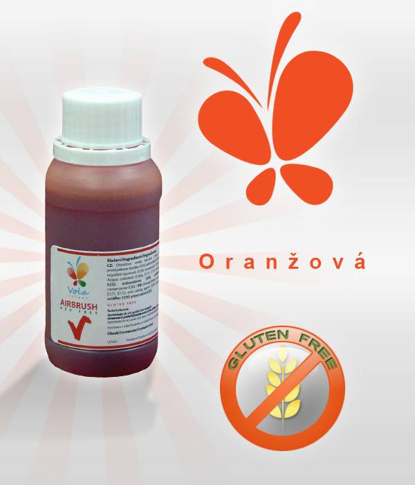 Airbrush barva 45ml - oranžová - Vola colori