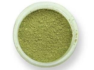 Prachová barva lesklá – zářivý olivín EKO balení 2g - PME