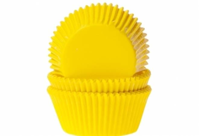 Košíček na muffiny papírový žlutý 50ks - House of Marie