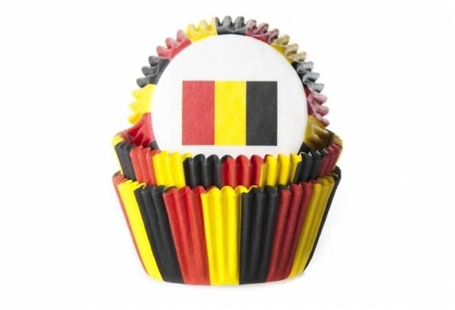 Košíček na muffiny vlajka Belgie 50ks - House of Marie