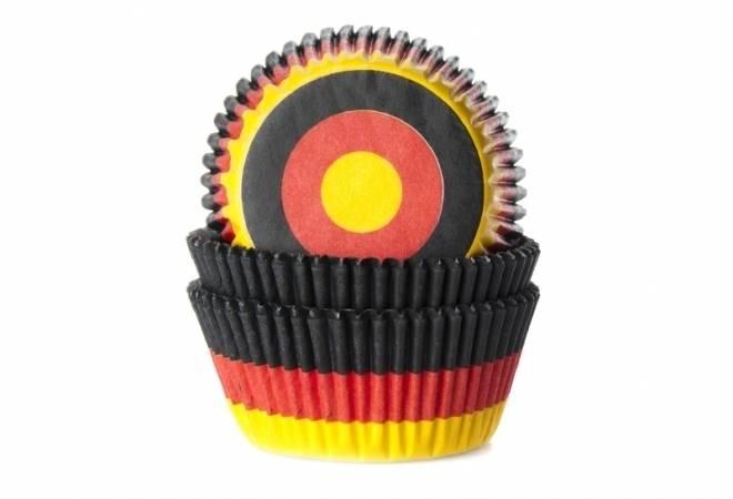 Papírový košíček na muffiny vlajka Německo 50ks - House of Marie