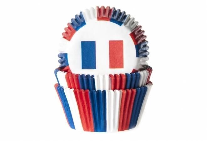 Papírový košíček na muffiny vlajka Francie 50ks - House of Marie
