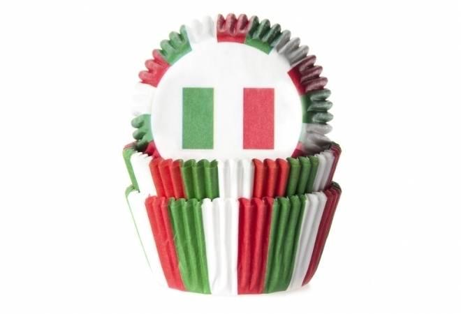 Košíček na muffiny vlajka Itálie 50ks - House of Marie