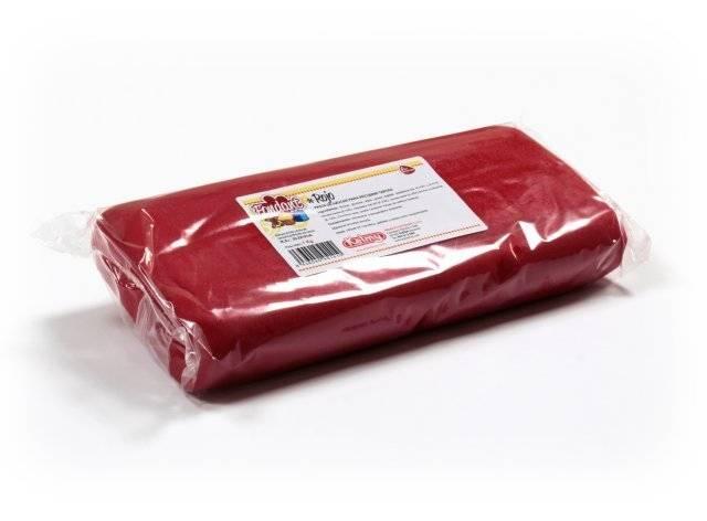 Potahovací hmota 1 Kg - červená - Kelmy