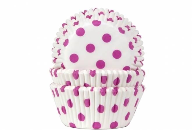 Košíčky na muffiny 50ks růžové puntíky - House of Marie