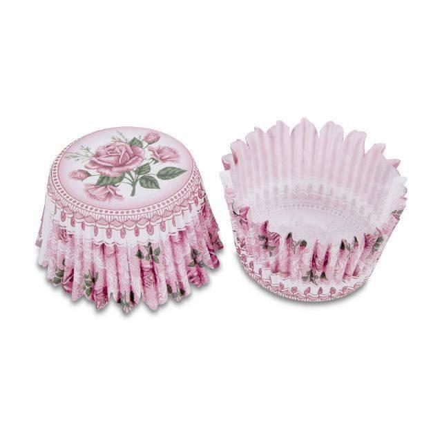 Papírové formy na pečení - mini, růžová zahrada - Stadter