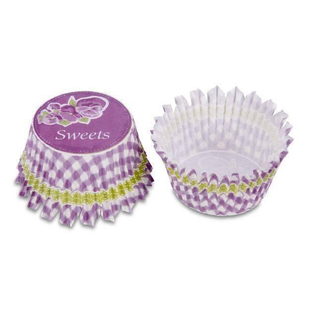 Papírová forma - mini, fialové kostičky - Stadter