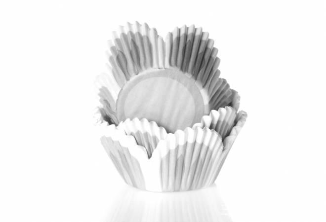 Košíček na muffiny šedivý tulipán 50ks - House of Marie