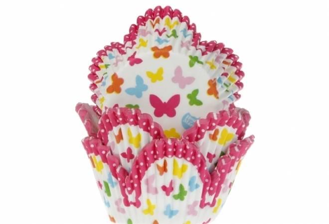 Košíčky na muffiny motýlci 50ks - House of Marie