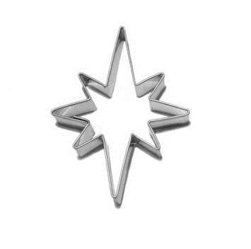 Vykrajovátko hvězdička 8 cípů 17x24 mm - Smolík