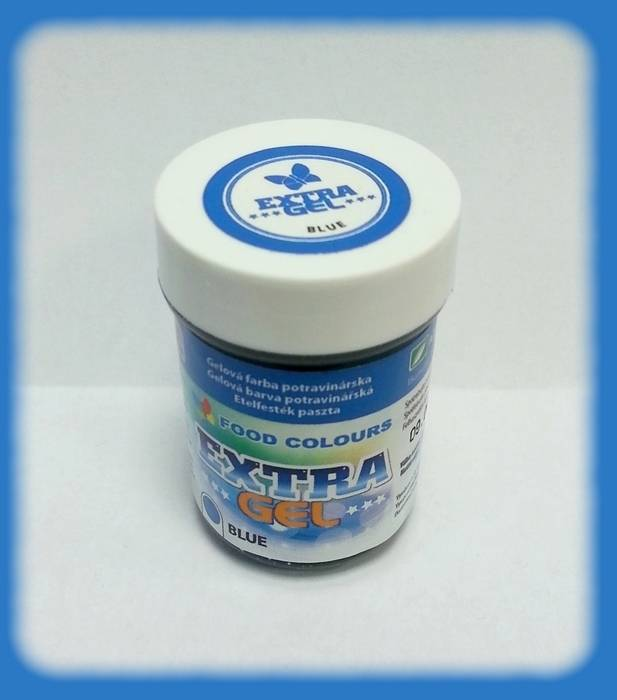 Gelová barva extra modrá 35g - Food Colours