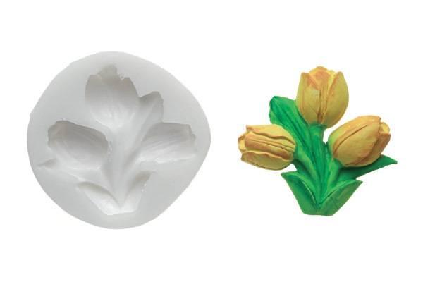 Silikonová forma na fondán- tulipány - Silikomart