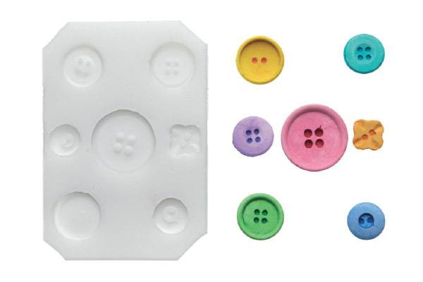Silikonová forma na fondán- knoflíky - Silikomart