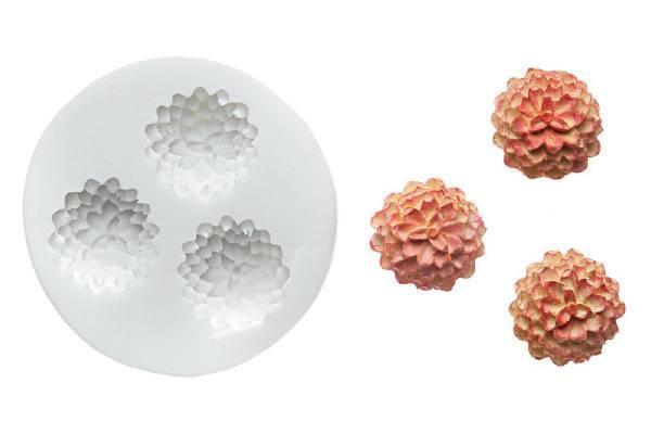Silikonová forma na fondán- květiny - Silikomart
