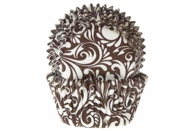 Papírový košíček na muffiny oriental hnědý 50ks - House of Marie
