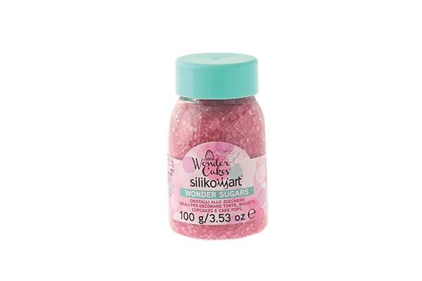 Cukrové sypání 100g - růžové - Silikomart