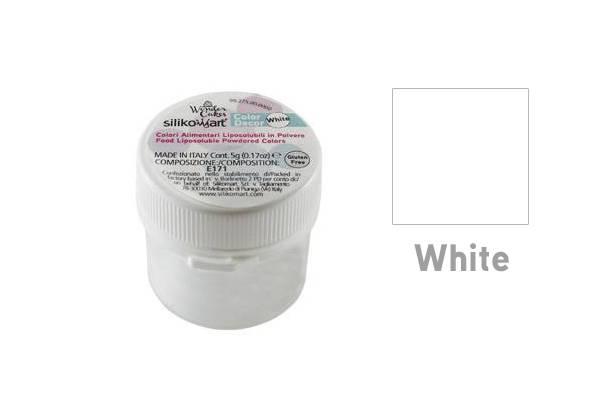 Prachová barva do tuků 5g - bílá - Silikomart