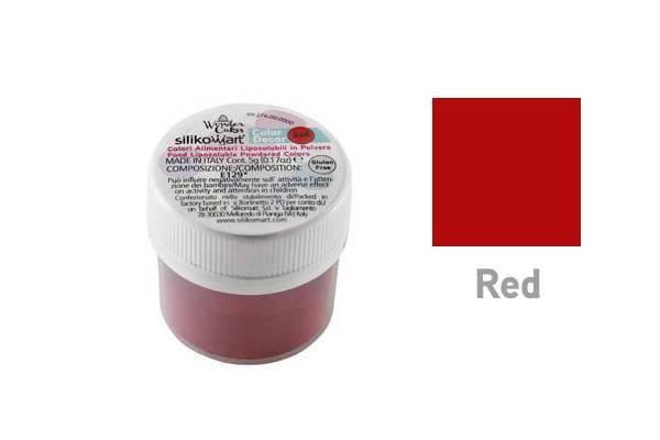 Prachová barva do tuků 5g - červená - Silikomart