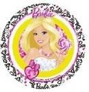 Jedlý papír panenka Barbie - 21cm - Florensuc