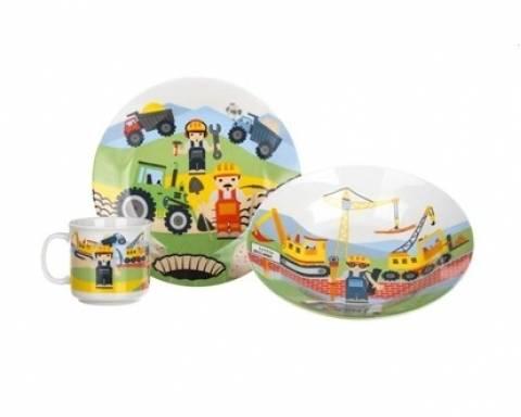 Dětská jídelní souprava - Stavitelé - BANQUET