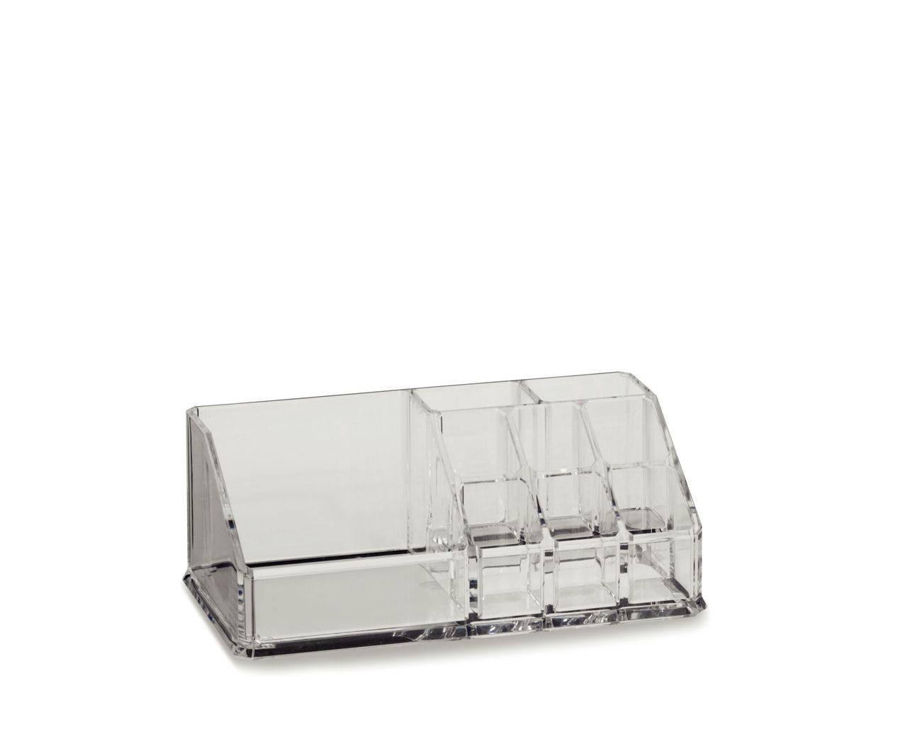 Kosmetická dóza SAFIRA plast, transparent, 17,5x9,5x6,5cm - Kela
