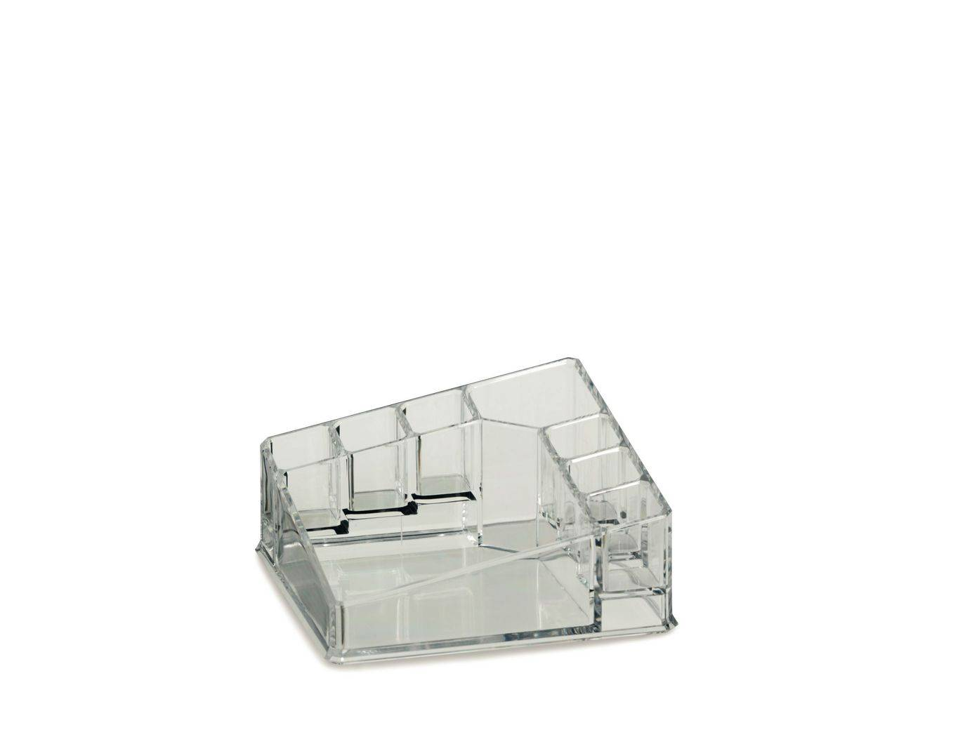 Kosmetická dóza SAFIRA plast, transparent, 14x14x6,5cm - Kela
