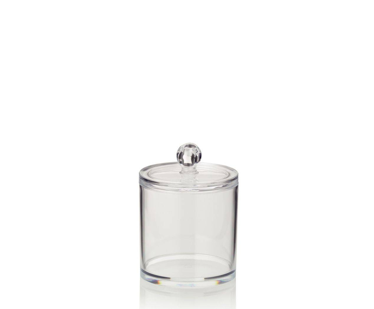 Dóza na vatu SAFIRA plast, transparent, 9,5x13cm - Kela