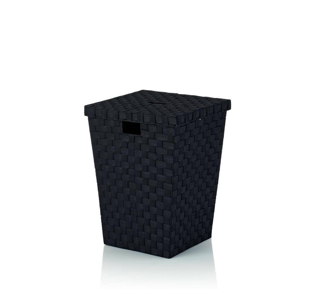Koš na prádlo Alvaro černý, 40x40x52cm KL-23070 - Kela