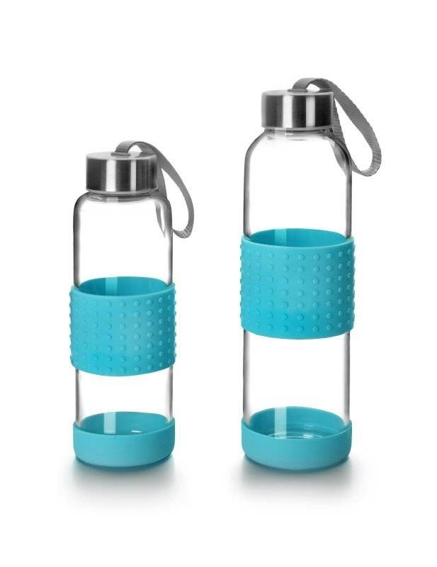 Skleněná láhev na pití modrá 360ml - Ibili
