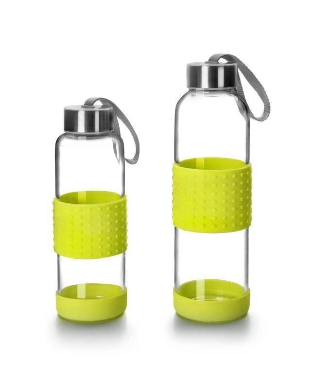 Skleněná láhev na pití zelená 500ml - Ibili