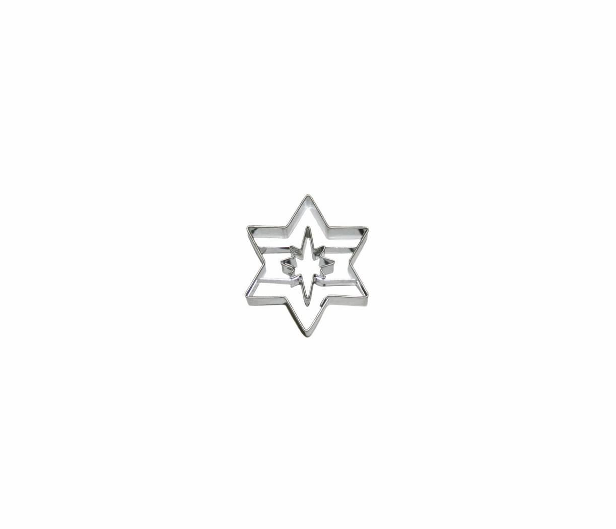 Vykrajovátko hvězda 8 cípů s volným středem - Smolík