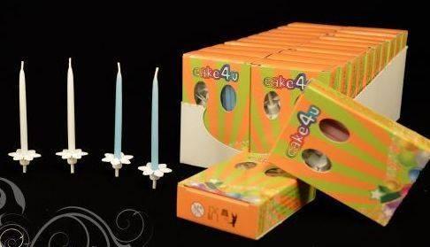 Dortové svíčky 7cm - 15 ks v balení -