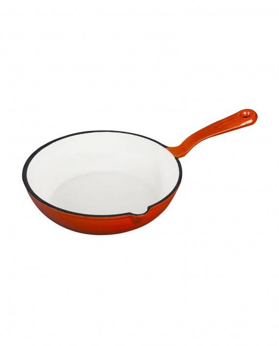 Smaltovaní pánvička litinová - oranžová - Smalt